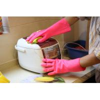 Buy cheap Kitchen Cleaning Pink Color Unlined Latex PVC Gloves Small , Reusable from wholesalers