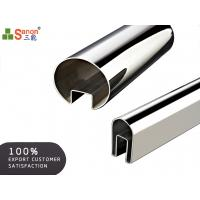 China Mirror Brush Stainless Steel Channel Pipe Decorative Square Single Slot Tube Handrail on sale