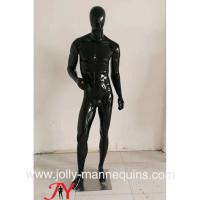 Buy cheap Jolly mannequins- Stock black glossy male mannequins full body mannequins with standing pose M-103C from wholesalers