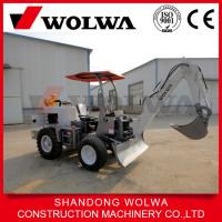 Buy cheap 1.8ton Smallest wheel digger for farm garden use with 0.1 m3 bucket from wholesalers