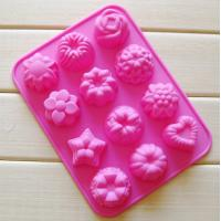Buy cheap silicone muffin cake molds , flower shape silicone tray  mold ,custom  silicone  mold product