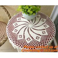 Buy cheap Crochet Round table clothing - table cover - white, wedding and banquet, blanket, clothes from wholesalers