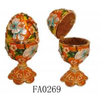 Buy cheap Faberge Egg Decorative Box Pewter Faberge Egg Decorative Box from wholesalers