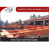 Buy cheap 3 Axle used container semi trailer , 40ft skeletal trailer chassis semi trailer from wholesalers
