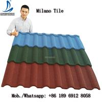 Buy cheap Sangobuild Milano Types Roof Tile Brick Red Color Stone Coated Roof Tiles In Philippines from wholesalers