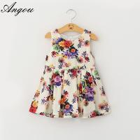 Buy cheap Wholesale summer Girls Dress fashion floral pattern dress children customizable clothing from wholesalers