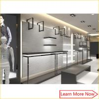 Buy cheap Guangzhou high end retail garment clothing shop interior design for men clothing shop display from wholesalers