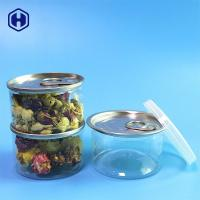 Buy cheap Small PET Empty Clear Plastic Cans Easy Open End 90ml 40mm Height from wholesalers