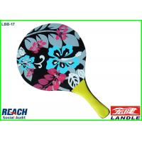 Buy cheap Flower Printed Paddle Tennis Rackets With Different Options For Size / Thickness from wholesalers