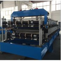 Buy cheap Double Layer Sheet Metal Forming Equipment , Metal Roofing Roll Forming Machine Manual Decoiler from wholesalers