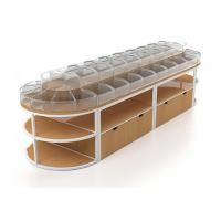 Buy cheap Elliptic Shape Food Store Shelving Candy Store Display Cases Two Layers from wholesalers