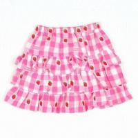 Buy cheap Girls' Skirt in Short/Kids' Tiered Mini Skirt, Full Printed, Cotton Fabric, OEM/ODM Acceptable from wholesalers