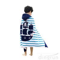 Buy cheap 100% Cotton Softest Quick Dry Hooded Kids Towel Child Poncho Bathrobe For Beach Pool from wholesalers