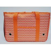 Buy cheap Orange Oxford + PU Leather Pet Carriers with heart printing odm-z8 product