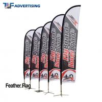 Buy cheap 16ft Flag Advertising Banners Large Swooper Anti Corrosion Vertical High Precison from wholesalers