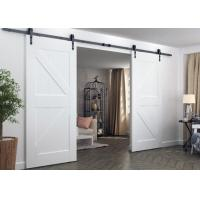 Buy cheap Modern Double Track Sliding Barn Doors Prefinished Surface Finish For Apartment from wholesalers