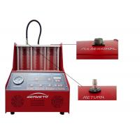 Buy cheap Gasoline Fuel Injector Tester And Cleaner / Car Injector Cleaning Machine from wholesalers