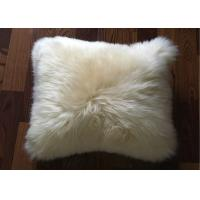 Buy cheap Australia Sheepskin Sofa Throw Pillows Single Sided Fur With Custom Color / Size from wholesalers