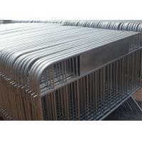 Buy cheap crowd barrier / hot sale used concert metal crowd control barriers 1.1M height x 2.5M width 35mm tube from wholesalers