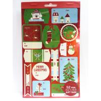 Buy cheap Christmas Sticker Printing White Paper Board Sheet Holiday Decoration from wholesalers