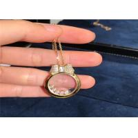 Buy cheap Chopard 18k Rose Gold Happy Diamonds Icons Pendant Necklace product