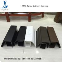 Buy cheap High Quality Rain Drainage System Building Material Plastic PVC Rain Gutter System Downspout Fittings Rainwater Gutters from wholesalers