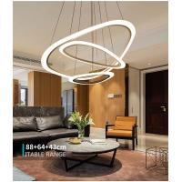 Buy cheap Modern art round commercial ring white acrylic pendant lights fixtures from wholesalers