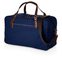 Buy cheap Dark Blue Fabric Travel Duffle Bags , Duffle Overnight Bag With Outside Pocket from wholesalers