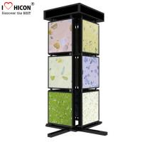 Buy cheap Metal Mosaic Ceramic Tile Displays For Showrooms , 4 Sided Display Stand from wholesalers