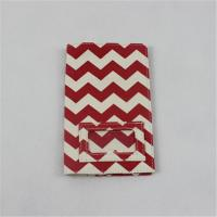 Buy cheap Woman Canvas Wallet And Card Holder Special Design With Red Wavy Pattern from wholesalers