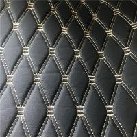 Buy cheap Black Color Fake Leather Fabric / Artificial Leather Cloth SGS Certification product