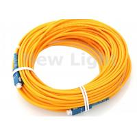 Buy cheap Single Model 9 / 125 Fiber Optic Jumper Cables / SC SC Fiber Patch Cord 100 Meters Length from wholesalers