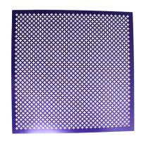 Buy cheap Low Carbon Steel Powder Coated Perforated Metal Sheet Screen Decorative Shape from wholesalers