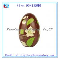 Buy cheap Egg shape christmas gift tin box from wholesalers