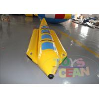 Buy cheap 4 Players Yellow Inflatable Banana Boat Inflatable Water Ski Tubes For Water Game from wholesalers