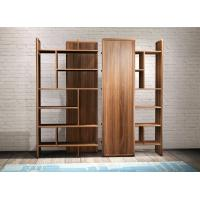 Buy cheap 2017 New walnut wood Bespoke Furniture Storage Cabinet Display Shelves with Glass door product
