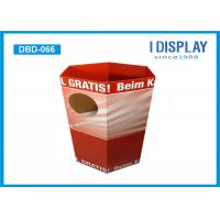 Buy cheap Cardboard Display Stands / Dump Bin Display For Sweet Oatmeal Products from wholesalers