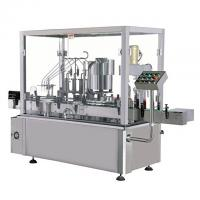 Buy cheap Glass And Plastic Milk Bottle Liquid Filling Machine , Air Jet Bottle Washing Machine from wholesalers