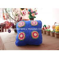 Buy cheap Blue Sofa Seat Crochet Cushion Cover Square Hand Crochet Car Seat Cushion Cover from wholesalers
