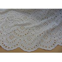 Buy cheap Chemical Vintage Eyelet 100% Cotton Lace Fabric For Lady Shirt And Suit Anti Static from wholesalers