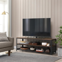 Buy cheap Long TV Stand with Metal Frame, Rustic Industrial Television Stand, Large Television Table, LTV50BX from wholesalers