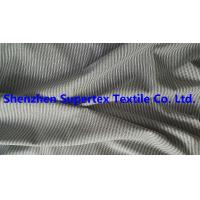 Buy cheap 147CM Yarn Dyed Cotton Twill Fabric Black / White Stripes Peach For Men'S Garment Blouses from wholesalers