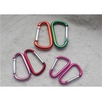 Buy cheap Small Personalized Promotional Gifts Carabiner Multiple Colors D - Shaped Mountaineering Buckle Metal Key Holder from wholesalers