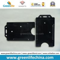 Buy cheap Black Hard Plastic Card Case One-Side Open Business Card Holders from wholesalers