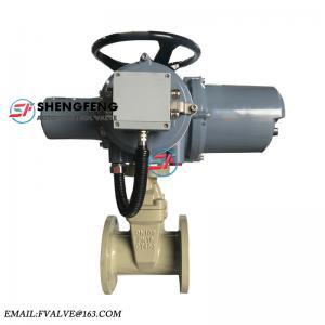 China DN100 pn16 QT450 ductile iron 380V 220V motorized electric gate valve on sale