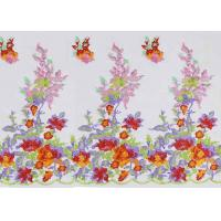 Buy cheap Beautiful Floral Multi Colored Embroidered Tulle Lace Fabric For Bridal Gown Dress from wholesalers