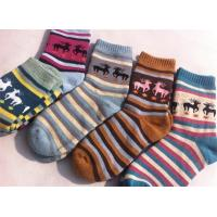 Buy cheap Christmas deer patterned design cosy cotton sweat-absorbent winter dress socks for women from wholesalers