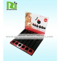 Buy cheap Retail Cardboard Counter Displays Paper Lipstick Store Display Racks With Holes from wholesalers