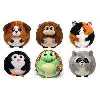 Buy cheap 25cm Round Shape Animal Promotional Gifts Toys Green / Brown / Grey Color product