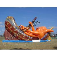 Buy cheap Pirate Ship octopus Slide Inflatable Dry Slide For Event Party Rentals from wholesalers